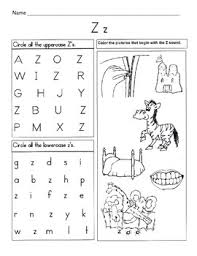 Students can read a short sentence or paragraph and connect the words or read a. 5 Letter Z Worksheets Alphabet Phonics Worksheets Letter Of The Week