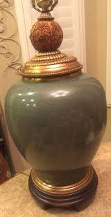 raymond waites for tyndale large green w brass beads table lamp