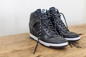 nike dunk sky hi essential leather trainers