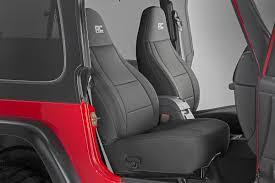 jeep neoprene seat cover set black 08 10 wrangler jk unlimited