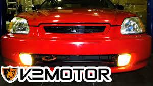 How To Install Fog Lights On Honda Civic 2005 K2 Motor Installation Video 1996 1998 Honda Civic Fog Lights