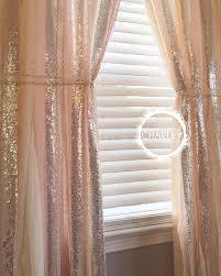 blush peach rose quartz with silver sparkle sequin garland curtain lace