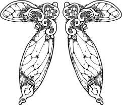 Afbeelding Fee Vleugel Kleurplaat Gratis Kleurplaten Printen