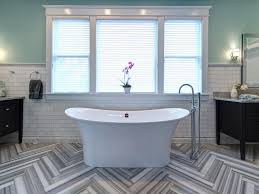 bathroom 8 bathroom tile trends for 2017 rs joni spear gray black white electic bathroom tub patterns