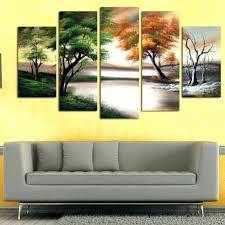 canvas wall art sets canvas wall art nature 5 piece nature canvas wall art set living