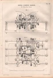 victorian engineering drawing double ing machine william more 1 1847