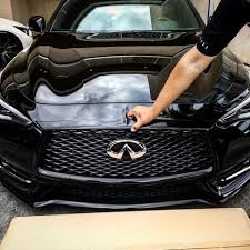 infiniti q60 blacked out. arash bagged q60 asydia checking out the midnight black infiniti blacked