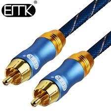 <b>EMK Digital Audio Coaxial</b> Cable OD8.0 6.0 Stereo <b>Audio</b> Rca to ...