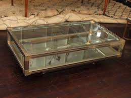 ... Cream Low Rectangle Modern Glass Display Case Coffee Table Designs For  Living Room Ideas ...