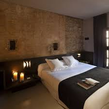 Wall Bedroom Bedroom Design Wall Laminated Beside The Brick Wall Modern