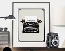 inspirational artwork for office. Antique Typewriter Print, Retro, Minimalist, Vintage Literary Quote,  Motivational Wall Inspirational Artwork For Office E