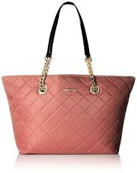 Calvin Klein Womens Quilted Nylon Tote Shoulder Bag Purse Pink ... & Calvin Klein Womens Quilted Nylon Tote Shoulder Bag Purse Pink Blush | eBay Adamdwight.com