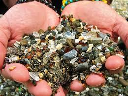 glass beach fort bragg california hands