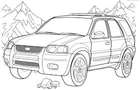 Small Picture Ford Coloring Pages Ford F150 Pickup Truck Coloring Page Free