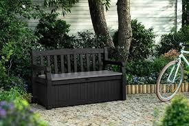 keter eden garden storage bench dark