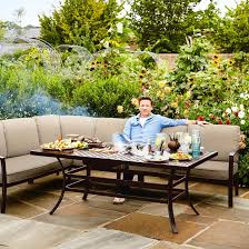 metal patio furniture for sale. Image Of 2018 - Jamie Oliver Cosy Corner Furniture Set Bronze/Biscuit Metal Patio For Sale E