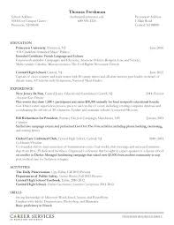 Sample Resume For First Year College Student Resume Examples For