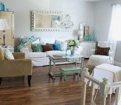 Wall Decor Living Room Shabby Chic Wall Decor Living Room With Arm Chair Floral Curtains