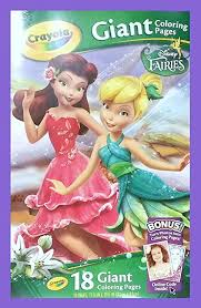 See also coloring sheets pictures below: Crayola Giant Color Pages Disney Fairies Amazon In Office Products