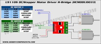 l9110s dc stepper motor driver h bridge for arduino 2 5 12v 800ma can drive two dc motors and a 4 wire 2 phase stepper motor