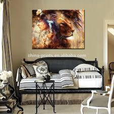 Wall Art Paintings For Living Room Wholesale Indian Woman Wearing Feather Headdress With Lion