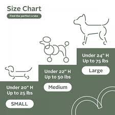 Dog Cage Size Chart Radius Wooden Dog Crate Alpine White Large