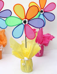 Paper Flower Pinwheels Cheerful Cheap And Easy Flower Centerpieces Thecraftpatchblog Com