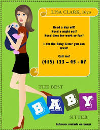 Babysitting Flyer Template Microsoft Word Free Free Babysitting Flyers Templates Ideas And Samples