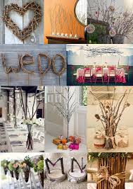 wedding decoration ideas | Twig Wedding Decoration Ideas - Moody Monday -  The Wedding Community .