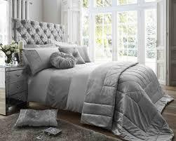 ss matt satin and crushed velvet bedding set silver sets main smaller modern blue grey queen