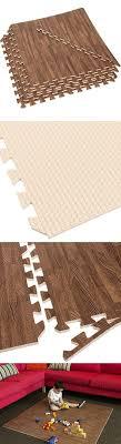 eva foam exercise mats 32 sq ft wood grain gym floor interlocking mats dark