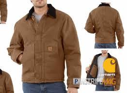 Carhartt Men's Sandstone Traditional Jacket Arctic Quilt-lined ... & Carhartt Men's Sandstone Traditional Jacket Arctic Quilt-lined - Pinstripe  Magazine Adamdwight.com
