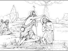 John Baptized Jesus Coloring Page With Collection Of Pages About
