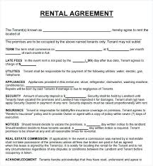 Agreement To Pay For Damages Rental Home Template Printable Sample ...