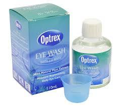 optrex eye wash 110ml eye bath included
