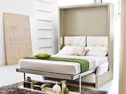 Stylish Single Iron Pull Down Bed Frame With White Mattress And Cover Bed  Sheet Feat Grey Rug Ideas In Tiny Bedroom Designs Ideas