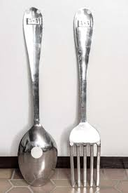 Large Spoon And Fork Wall Decor