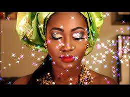 bridal makeup african bride