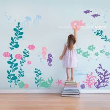 under the sea wall decal mermaid room