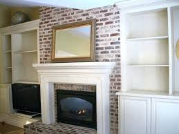par build bookcases around brick fireplace built in