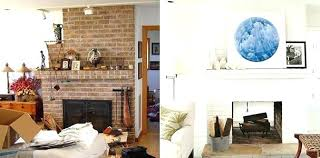 paint fireplace bricks white interior fireplace paint before after living room painted fireplace modern art from