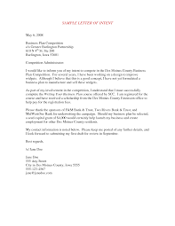 Business Letter Of Intent Letter Of Intent for Business Proposal Example 1