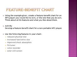 Feature Benefit Chart Acquire Product Knowledge To Communicate Product Benefits