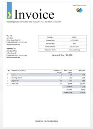 Invoice Template Ms Word Over Free Microsoft Office Templates