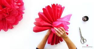 diy tissue paper pom pom tutorial