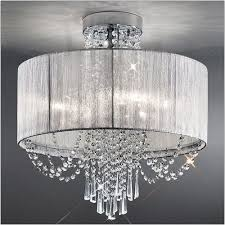 franklite empress 6 light semi flush with crystal and shade fl2303 6