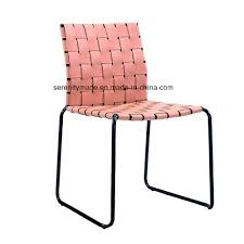 Woven metal furniture Mygift Decorative New Item Stackable Leather Woven Metal Legs Dining Chair Aliekspresssite China New Item Stackable Leather Woven Metal Legs Dining Chair