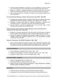 Charity Resume Samples Charity Resume Template Resume Template