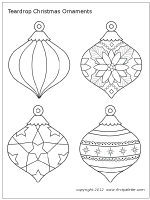 Small Picture Christmas Tree Ornaments Printable Templates Coloring Pages