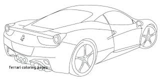 Printable Ferrari Coloring Pages Kids Hoofardus